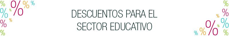 Descuentos sector educativo
