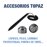 Accesorios Topaz - Lápices, Pilas, Láminas protectoras, puntas de tinta...