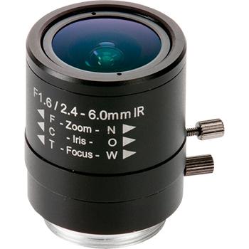 Objetivo varifocal de iris manual 2,4-6 mm