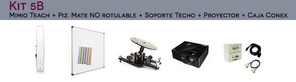 Kit 5B: MimioTeach + Pizarra Mate Blanca + Soporte de techo + Proyector + Caja de conexiones