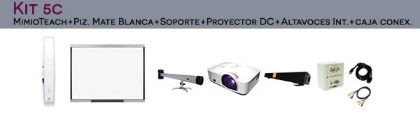 Kit5C: Mimio Teach + Pizarra Mate Blanca + Soporte + Proyector DC + Altavoces Integrados + Caja de Conexiones