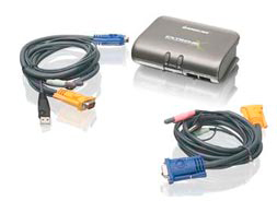 IOGEAR Switch KVMP 2 Puertos USB/PS2/AUD/PERIF