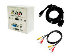Caja Multimedia VGA + AUDIO + USB con cables 10 Metros VGA M + Conector