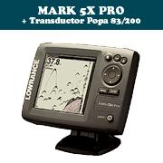 MARK 5X PRO + Transductor de popa 83/200