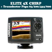 ELITE 5X CHIRP + Transductor de popa 83/200/455/800khz