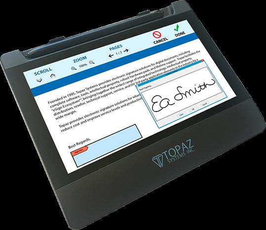 Topaz GemView TD-LBK070VA-USB-R  - 7 eSign Tablet Display