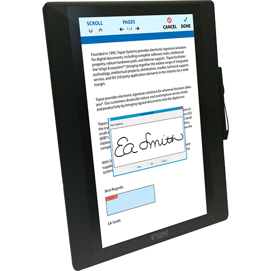 Topaz GemView TD-LBK156VA-USB-R  - 16 eSign Tablet Display