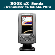 HOOK-4X Sonda + transductor 83/200 Khz.