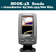 HOOK-4X Sonda + transductor 83/200/455/800 Khz.