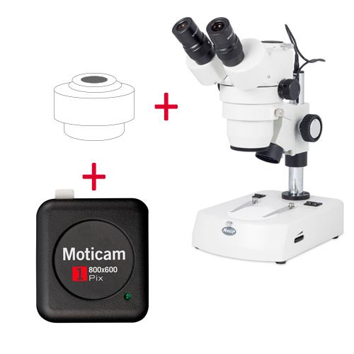 Pack: SMZ-143-N2LED + Moticam 1