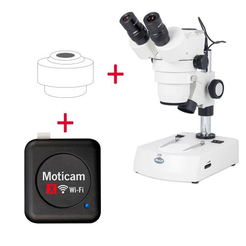 Pack: SMZ-143-N2LED + Moticam X