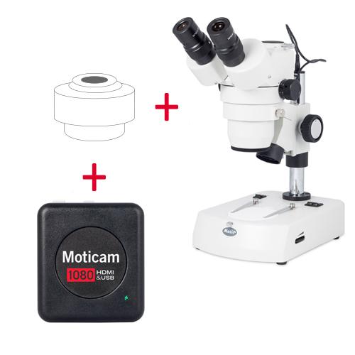 Pack: SMZ-143-N2LED + Moticam 1080