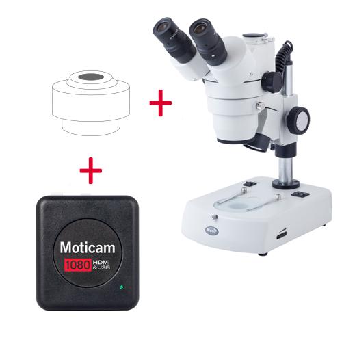 Pack: SMZ-143-N2GG + Moticam 1080